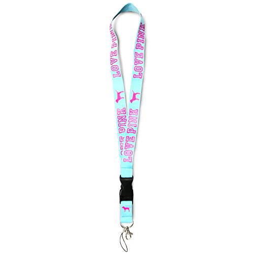 Victoria's secret Love Pink Detachable Lanyard Teal for keys cell phones clip clasp breakaway heavy (Miscellaneous Object Holder)
