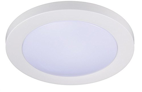 Cloudy Bay 12 inch LED Flush Mount Ceiling Light 4000K Cool White Dimmable 17W 1100lm -120W Incandescent Equivalent,ETL,Wet Location, White Finish (Porch Led Light 12)