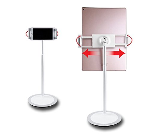 idee PTS02W Height & Angle Adjustable Commercial Graded Aluminum Table Stand for iPads Tablets and Smart Phones, 360 Degree Rotate Mount Designed for Store POS, Office & Home Desktop and more by idée (Image #3)