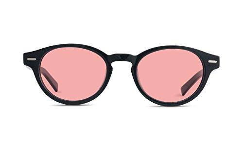 TheraSpecs Keaton Migraine Glasses for Light Sensitivity, Photophobia and Fluorescent Lights | Unisex | Indoor Lenses | Black