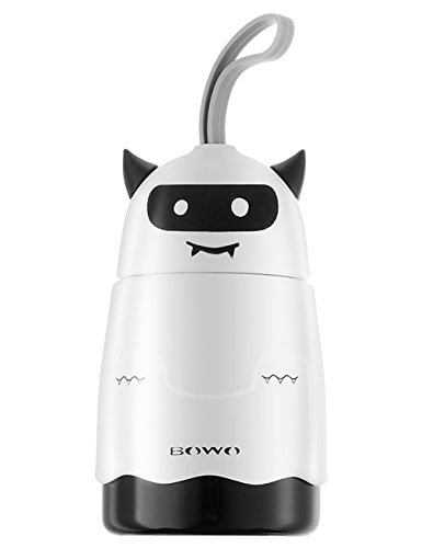Devils Stainless Steel Flask - Cute Mini Thermos Water Bottle for Kids- ZY1 (10 oz) Little Devil Cartoon Portable Stainless Steel Vacuum Insulated Tumbler Mug for Kids-White