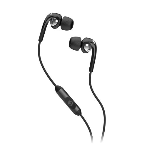 Skullcandy Fix In-Ear Headphones w/ Mic3 Black/Chrome (2012 Color), One Size