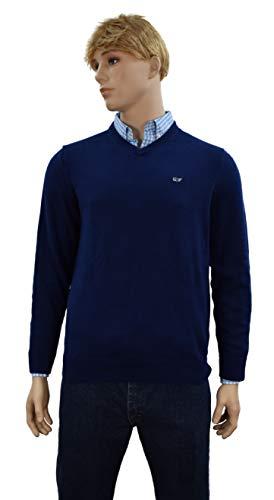 Vineyard Vines Men's Sweater 1/4 Zip (Large, V-Neck Cashmere/Deep -