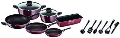 مجموعة أدوات الطهي بليجر من 14 قطعة أحمر/أسود 40x28.5x28.5سم