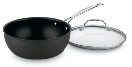Cuisinart 635-24 Chef's Classic Nonstick Hard-Anodized 3-Quart Chef's Pan with Cover (Cuisinart 3 Quart Saute Pan compare prices)