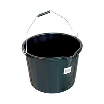 15 Litre Builders Garden Bucket with Measuring Scale and Metal