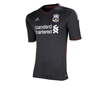 9b60d1482dd Liverpool Away Mens Football Shirt 2011 12 SS XXL Black  Amazon.co ...