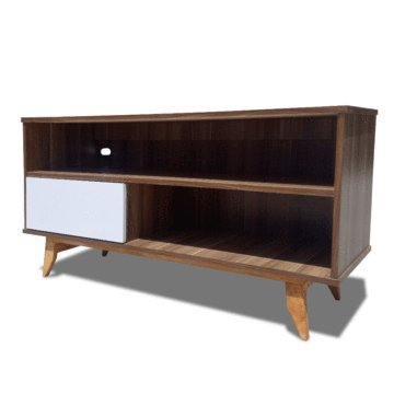 REMATES MX Mueble de TV Laurence Retro Nogal