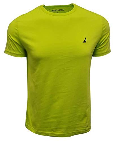 Nautica Men's Short Sleeve Crewneck Tee T-Shirt (Small, Tropic Lime Green)