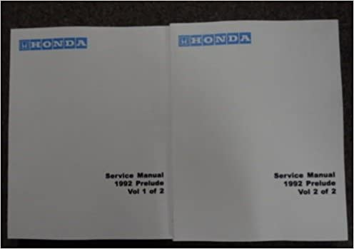 Other Car Manuals 1992 HONDA PRELUDE Service Shop Repair Manual ...