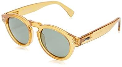 Local Supply Men's FREEWAY Polarized Sunglasses - Dark Green Tint Lens, Polished Beige Frames