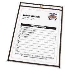 C-Line Shop Ticket Holders, Stitched, Both Sides Clear, 50 inch, 6 x 9, 25/BX