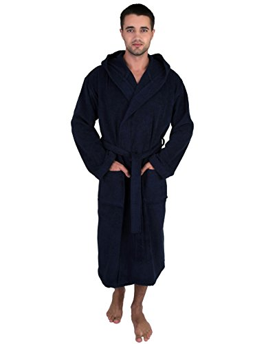 TowelSelections Men's Robe, Turkish Cotton Hooded Terry Bathrobe Large/X-Large ()