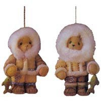 Cherished Teddies Eskimo with Fish Hanging Ornament (Eskimo Ornament)