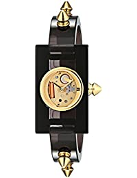 Quartz Gold-Tone and Plastic Casual Grey Women's Watch(Model: YA143508)