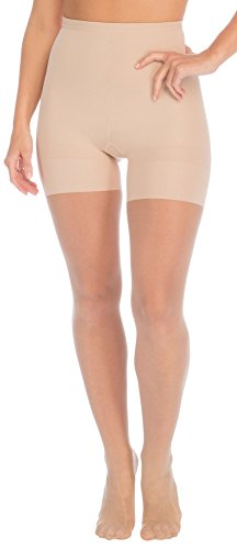 Red Hot by Spanx Sheer Shaping Pantyhose Size: 3 (Pantyhose Champagne)