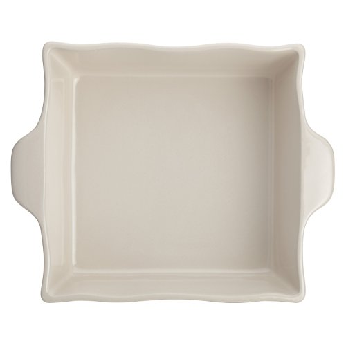 Ayesha Curry Home Collection Stoneware Square Baker, 8-Inch x 8-Inch, Cream by Ayesha Curry (Image #2)