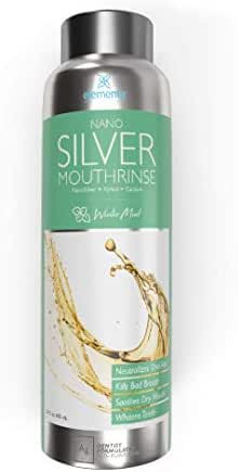 Dentist Formulated Nano Silver Xylitol Mouthwash With Calcium, PH Balanced, Enamel Oral Rinse Alcohol and Fluoride Free