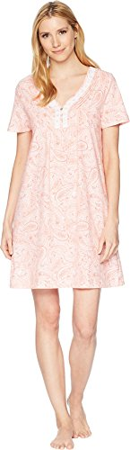 (Carole Hochman Women's Soft Jersey Short Sleeve Sleepshirt Water Paisley Medium)