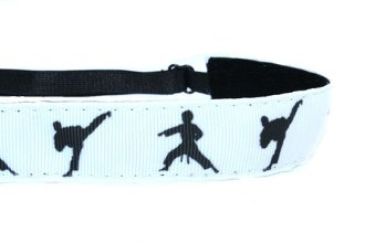 Mavi Bandz Adjustable Non-Slip Fitness Headbands - Martial Arts Karate