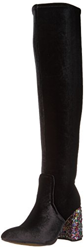 Boot Women's Keeva Betsey Johnson Slouch Velvet Black qZpxBxw