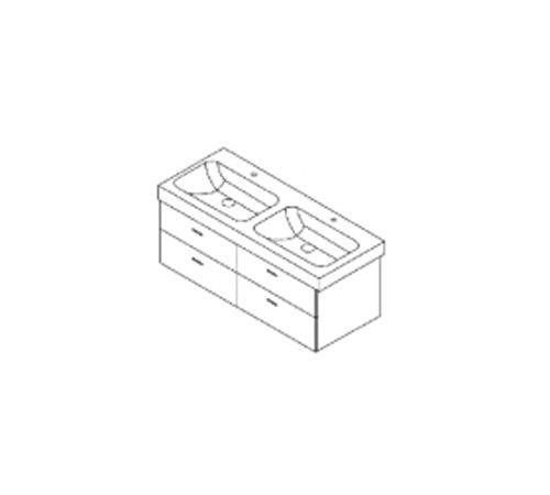 Burgbad Waschtischunterschrank für Keramag Icon 120cm, WUHY115