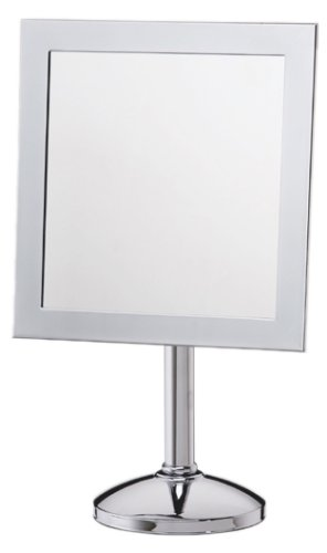 Amazoncom Danielle Chrome Square Vanity Mirror With Stand