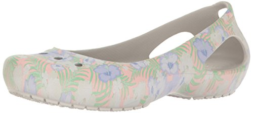 crocs Women's Kadee Graphic W Flat, Light Pink/Floral, 10 M US ()