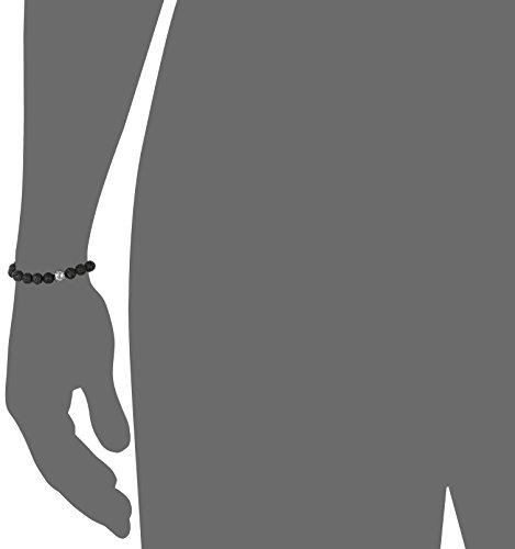 Tateossian Asteroid Ruthenium Silver Lava Beads Black Bracelet, Large by Tateossian (Image #2)