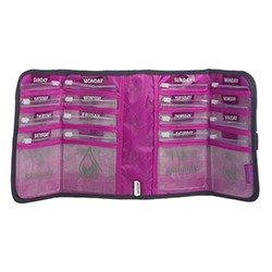 amazon com purple lined honeycomb gray folding pill wallet and