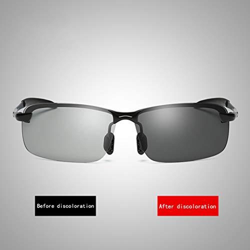 Hommes HD Double Black Black pêche à Tendance 7cm de pour Conduite polarisées Color Lunettes de soleil 4 Usage Size 14 wqXfH0P