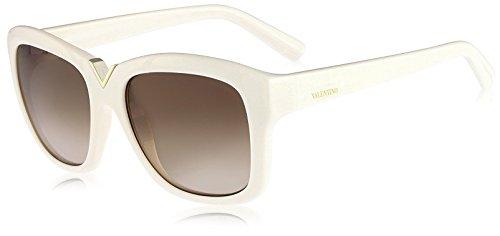 Valentino Metal Sunglasses (VALENTINO Sunglasses V664S 103 Ivory 55MM)