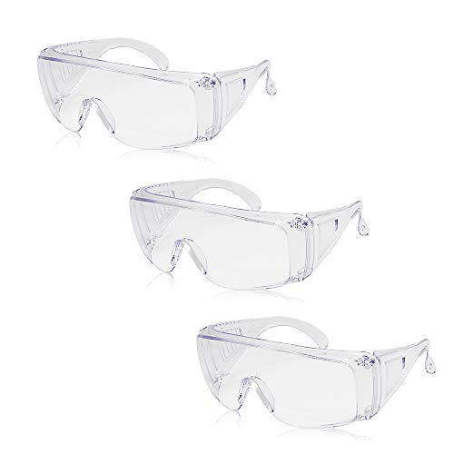 Lixada Safety Glasses Personal Protective Equipment, PPE, Eyewear Protection, Clear, High Impact, Vented Sides, Anti Fog…