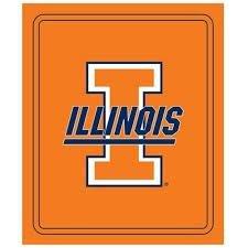 (Logo NCAA Officially Licensed Classic Fleece Throw (Illinois Illini))