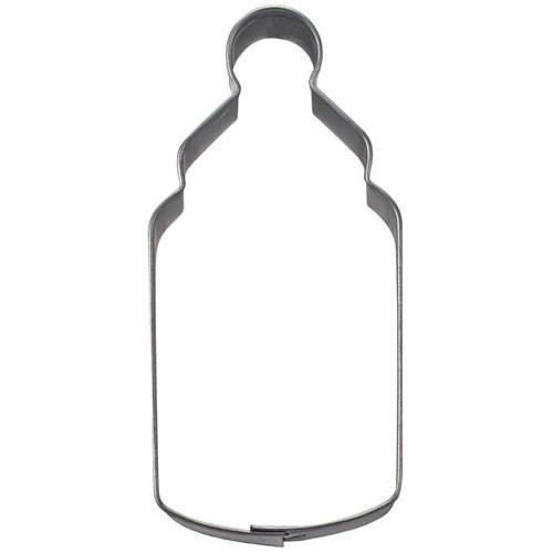 Ausstechform Babyflasche, Weißblech, 6,5 cm