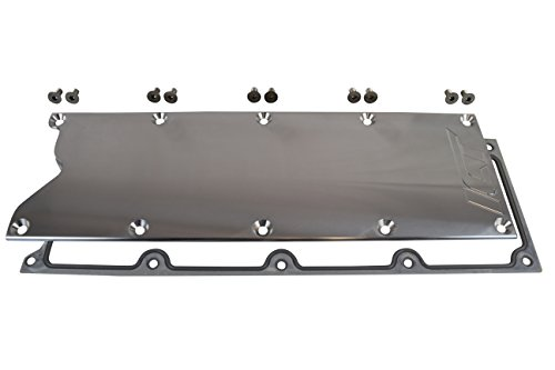 (LS Gen 3 VALLEY PAN Cover with GASKET Plate Billet Low Profile Knock Sensor LSX LS1 551629G)