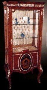 Barock Vitrine Rokoko Antik Stil Schrank Louis XV MoVi0588