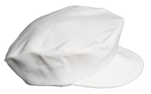 Boys White Special Occasion Cabbie Captains Baby Hat - Size L