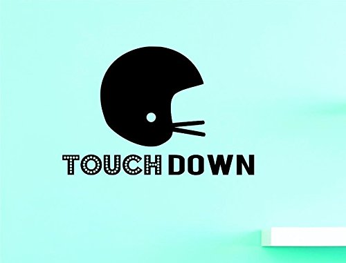 Design with Vinyl US V JER 3548 1 Top Selling Decals Touchdown Wall Art Size X 12 Inches Color 12 x 12, Black