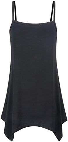 ESAILQ bluzka damska, nieregularne letnie wycięcie w kształcie litery V, tank top: Odzież
