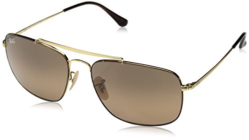 Ray-Ban RB3560 The Colonel Square Sunglasses, Tortoise/Brown Gradient, 61 ()