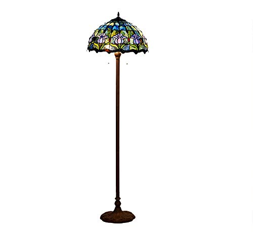 AO-Lamps Floor Lamp Living Room Study Room Blue Tulip Glass Creative Lighting