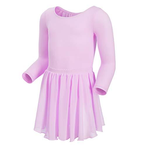 670b0cc6 MAGIC TOWN Gymnastics Leotards for Girls Toddler Ballet Tutu Long Sleeve (4 -6,Purple)