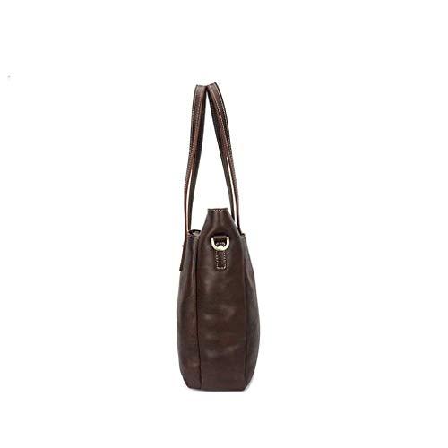 XYZMDJ Lätt olja retro stil handväska, vertikal messengerväska axelväska män och kvinnor affärsväska