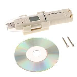B Blesiya Gm1365 LCD USB Registrador de Temperatura Datos ...