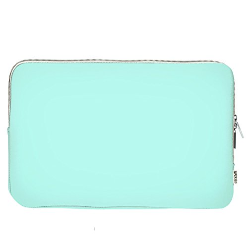 """TOP CASE - Zipper Sleeve Bag Cover Compatible with Apple 11"""" Apple MacBook/Chromebook / Microsoft Surface Pro/Laptop and Notebook with TOP CASE Logo Mouse Pad (HOT BLUE/TURQUOISE)"""