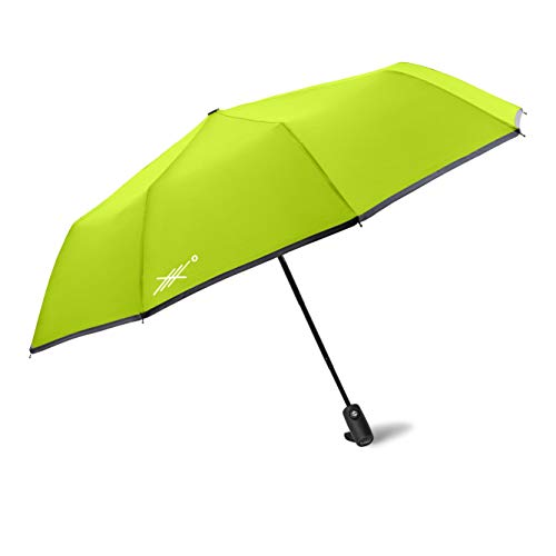 - Extreme Degrees High Visibility Neon-Umbrella. Compact Lightweight Folding Umbrella with LED Flashlight. Protects from Rain or Sunlight- UV Protection. Men, Women & Kids.