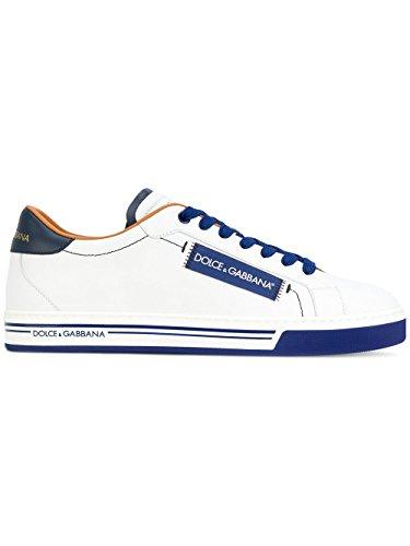 Dolce e Gabbana Men's Cs1572an17589951 White/Blue Leather Sneakers by Dolce e Gabbana
