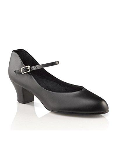 Capezio Women's Jr. Footlight Character Shoe,Black,9 W US