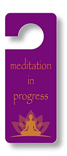 meditation in progress door hanger